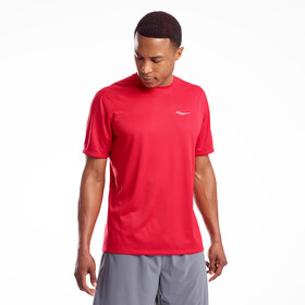 saucony Stopwatch Shortsleeve Shirt Men saucony red